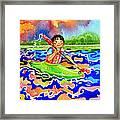 The Kayak Racer 12 Framed Print