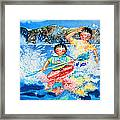 The Kayak Racer 7 Framed Print