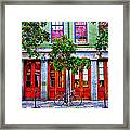 The Locked Bicycle - New Orleans Framed Print