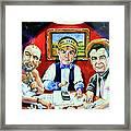 The Poker Game Framed Print