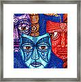 The Sadness The Mistrust And The Fatigue Framed Print