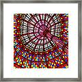The Stained Glass Ceiling Framed Print