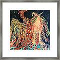 The Unicorn And Phoenix Rise From The Earth Framed Print