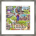 The Who What And Where Of Athens Alabama Framed Print by Shawn Doughty