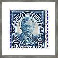 Theodore Roosevelt Postage Stamp Framed Print
