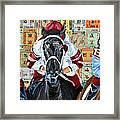 Three In The Lead Framed Print