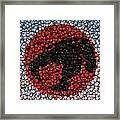 Thundercats Bottle Cap Mosaic Framed Print by Paul Van Scott