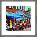 Ti Amo Restaurant Prince Arthur Street Montreal Framed Print