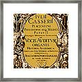 Title Page, Giulio Casserios Anatomy Framed Print