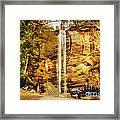Toccoa Falls Framed Print