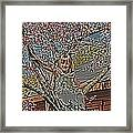 Tomboy In The Tree Framed Print