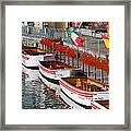 Tour Boats Framed Print