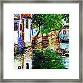 Town With Water Streets Framed Print