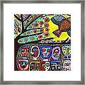 Tree Of Life People Blue Bird Framed Print