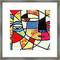 Tribal Batik Mask Reflection Framed Print