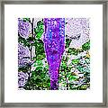 Triptych Cobalt Blue Purple And Magenta Bottles Triptych Vertical Framed Print