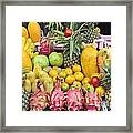 Tropical Fruit Display  Framed Print