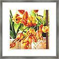 Tulipes A La Fenetre Framed Print