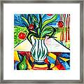 Tulips And A Pear Framed Print