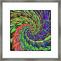 Tumbling Down The Rainbow Highway Framed Print