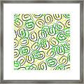 Twirls Framed Print by Louisa Knight