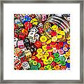 Two Jars Dice And Buttons Framed Print