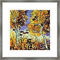 Two Trees In Fall Framed Print