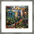 Two Village Lamps Framed Print