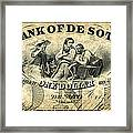 Union Banknote, 1863 Framed Print