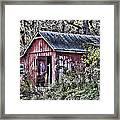 Us61 Barn Framed Print