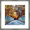 Valley Green Road Bridge In Autumn Framed Print by Bill Cannon