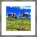 Van Gogh Goes Cow Tipping 7d3290 Framed Print by Wingsdomain Art and Photography