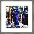 Van Gogh Is Captivated By A San Francisco Street Performer . 7d7246 Framed Print