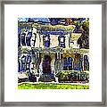 Van Gogh Visits The Old Victorian Camron-stanford House In Oakland California . 7d13440 Framed Print