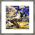 Van Gogh.s Flying Pig Framed Print by Wingsdomain Art and Photography