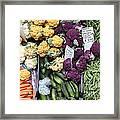 Variety Of Fresh Vegetables - 5d17900 Framed Print