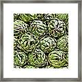 Vegetables In A Market In Lima, Peru Framed Print