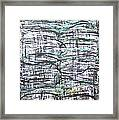 Vertical White Lines And Horizontal Black Lines Framed Print