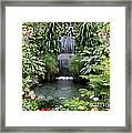 Victorian Garden Waterfall - Digital Art Framed Print