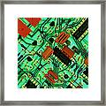 View Of A Circuit Board From An Alarm System Framed Print by Chris Knapton