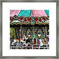 Vintage Circus Carousel - Merry-go-round Framed Print