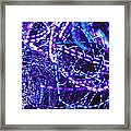 Violet Neon Lights Framed Print