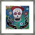 Viva El Amor Day Of The Dead Framed Print