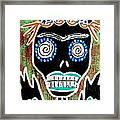 Voodoo Queen Sugar Skull Angel Framed Print
