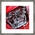 Vw Beetle With Chrome Engine Framed Print by Kaye Menner