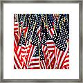 Wall Of Us Flags Framed Print