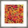 Warm Color Rings Framed Print