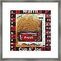 Warm Cup Of Joe Original Painting Madart Framed Print by Megan Duncanson