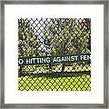 Warning Sign On Chain Fence Framed Print by Thom Gourley/Flatbread Images, LLC