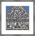 Wat Ratcha Orasaram Ubosot Gable Detail Dthb428 Framed Print